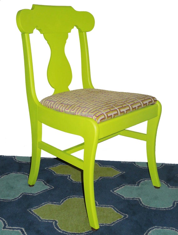 Vintage Refurbished Neon Dining Chairs Set of 4