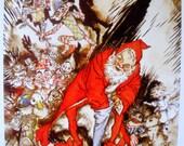 CHRISTMAS SANTA Arthur RACKHAM print