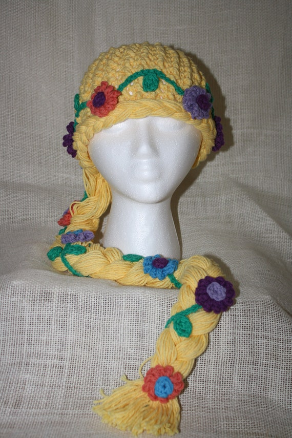 Rapunzel Blonde Princess Hat EASY Crochet PDF by KnotteryBarn1