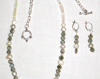 Freshwater Pearl Combo Necklace & Earrings