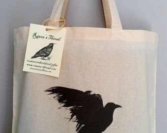 Cotton Canvas Tote Bag Raven
