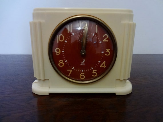 Original french art deco jaz alarm clock by decofanatique Art deco alarm clocks