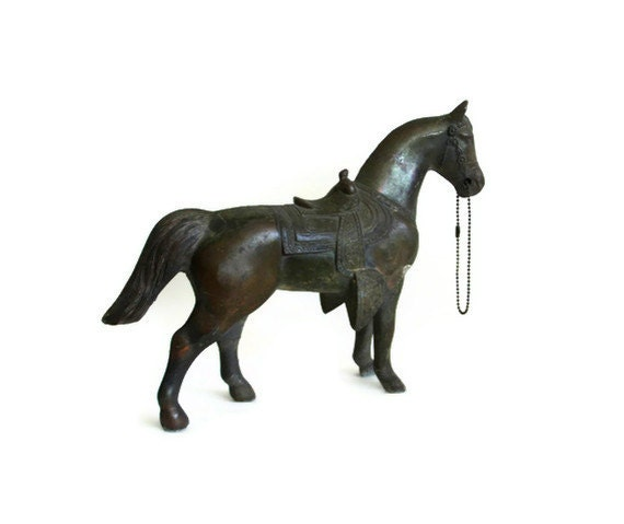 Vintage Horse Toy Bank Cast Iron Equine Statuette