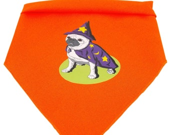 Pug Wizard Halloween Dog Bandana