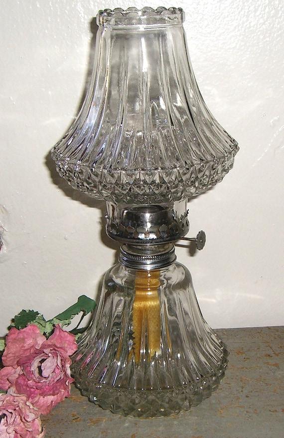 Cut Glass Oil Lamp