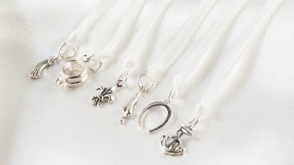 wedding cake pull ribbons sterling silver keepsake charms. Black Bedroom Furniture Sets. Home Design Ideas