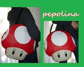 Big Super Mario Mushroom Student Bag