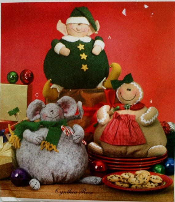 Craft Sewing Pattern Christmas ELF Ginger And Kris Mouse McCalls M4687 ...