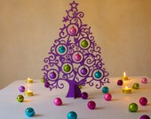 Christmas decoration  curltree 40cm purple - Koelnschaetze
