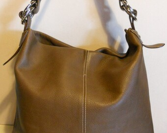 XL gorgeous vintage Italian leather tote bag, boho