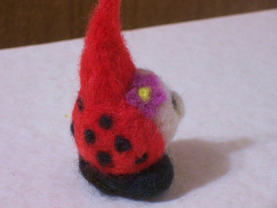 pocket gnome, lady bug, bird handmade wool doll, needle felted soft toy,waldorf,play people