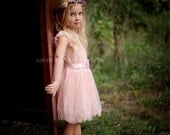 The ORIGINAL Olivia PINK Flower Girl Lace Dress, made for girls, toddlers, infants, ages 2T,3T,4T,5T