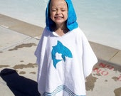 2 Swimming Poncho Hooded Towel Small -Free name embroidered thru 3/22