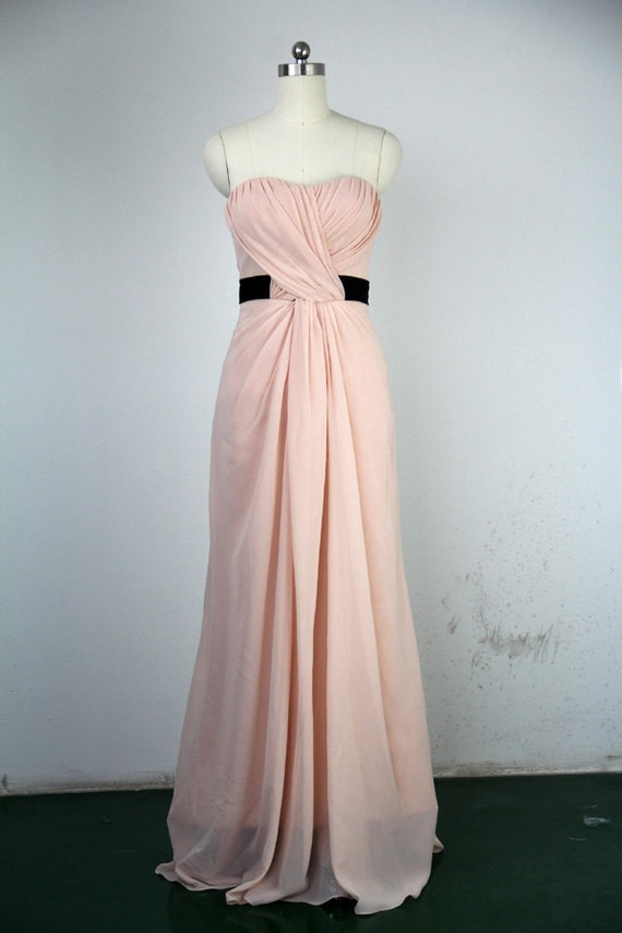 Handmade Bridesmaid Dress A-line Sweetheart Long Chiffon Prom - photo #21