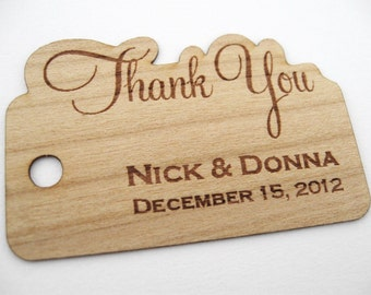 Wood Tags / Wedding Favor Tags / Wooden Tags / Gift Tags / Shower Favor Tags / Wood Hang Tags  - Wood Personalize