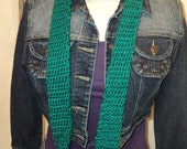 Teal green skinny scarf, SO SOFT