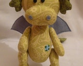 Tomas The Dragon Sewing PDF Pattern/Cute Fat Dragon PDF Pattern/Cotton Fabric Dragon/Sewing Dragon
