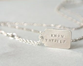 Personalized Message Quote Tag Necklace