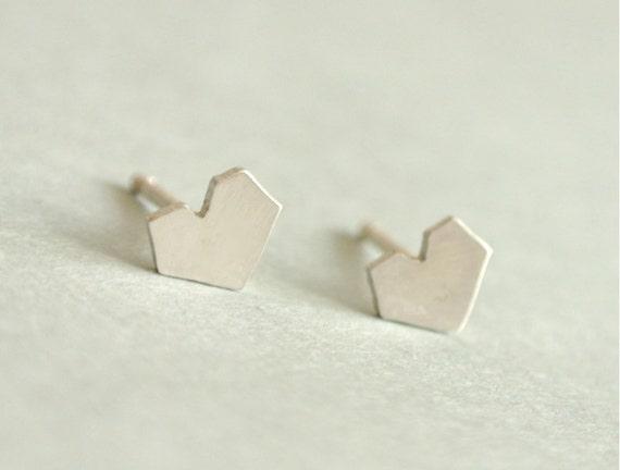 Heart Love Stud Earrings