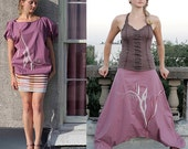 Harem Afghani Aladdin Yoga Boho Genie Burning Man Multipurpose reversible pants dress skirt