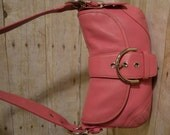COACH Soho Handbag Pink Genuine Leather Hobo Handbag Purse