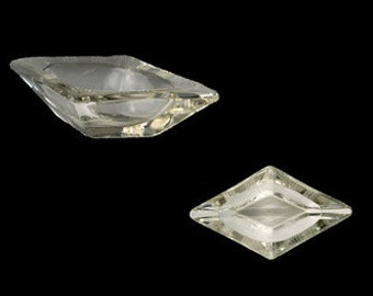 Vintage Clear Glass Diamond-Shaped Individual Ashtray