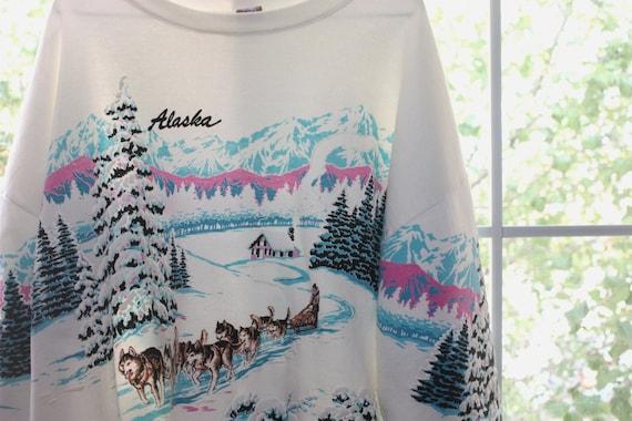 Vintage Hipster Souvenir Sweatshirt Alaska