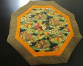 Quilted Pumpkin Table Topper
