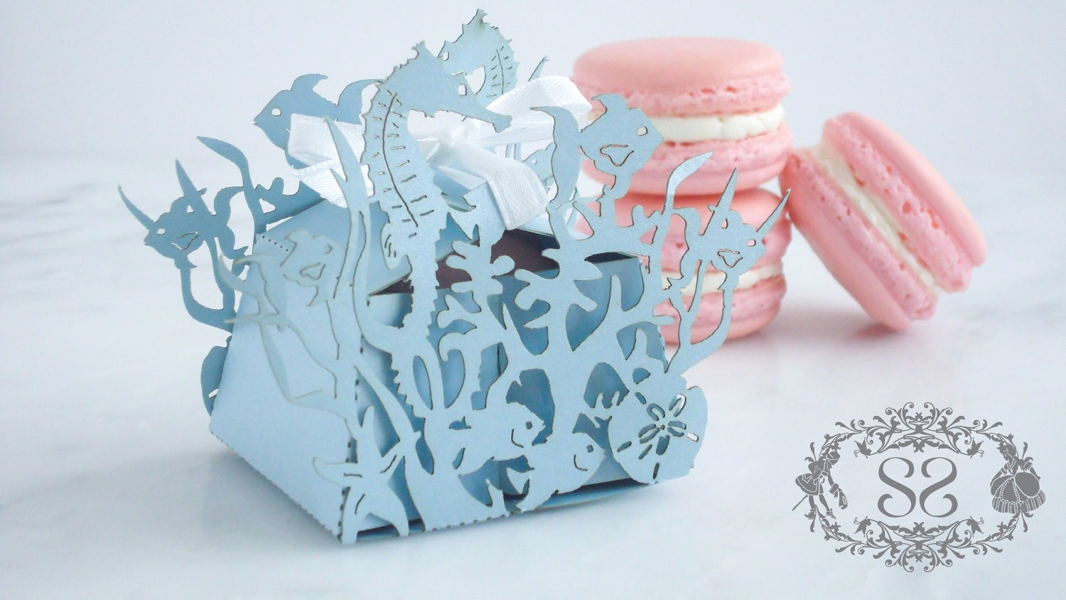 Wedding Favors Macaron Favor Wedding Under the Sea Favor Box
