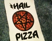 hail pizza twill patch
