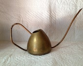 Rustic Vintage Brass Watering Can, Cottage Chic Small Brass Watering Can, Watering Pitcher