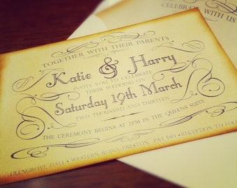 Regency Wedding Invitation