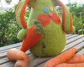Handmade crochet Bunny The Carrot admirer