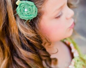Rosette Hair Clip / Baby Hair Clip / Toddler Hair / Rosette Clip