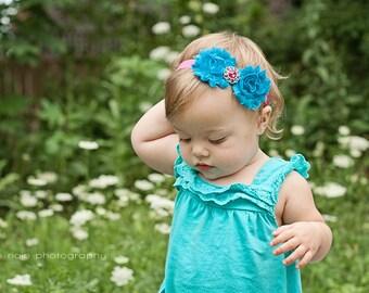 Baby Girl Headbands.Shabby Flower Headband.Shabby Baby Headband.Shabby Headbands.Shabby Chic.Infant Headband.Baby Headband.Newborn Headband