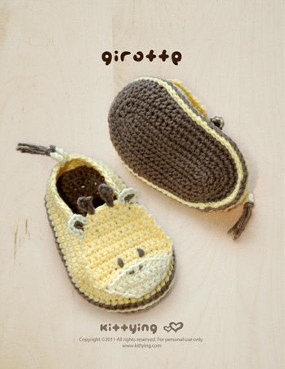 Crochet Pattern Baby Booties Giraffe Baby Shoes Giraffe Preemie Socks Animal Shoes Crochet Slippers Baby Shower Crochet Patterns