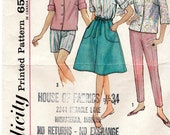 Simplicity 4949 Vintage Misses' Pattern:  Blouse, Wrap-Around Skirt and Pants in 2 Lengths - Size 18 Bust 38