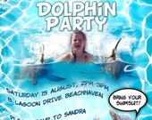 Dolphin Party Printable Invitation - with Photo