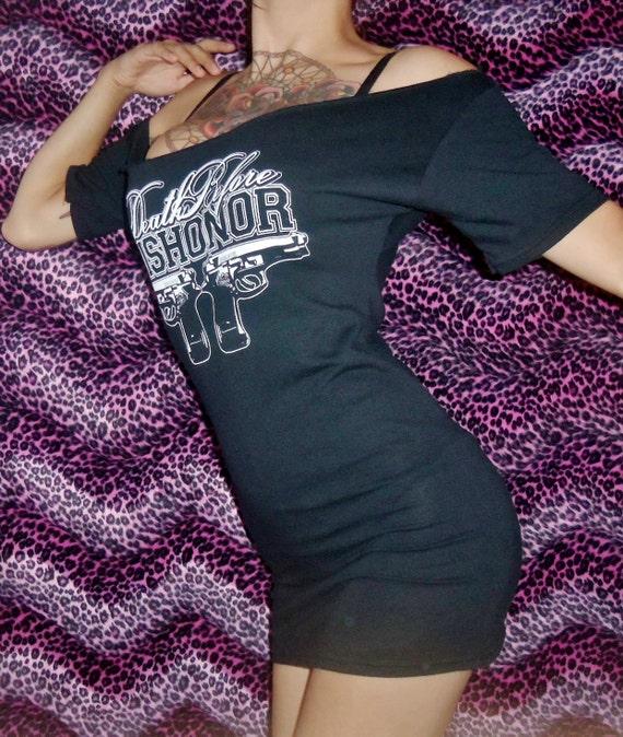 DEATH BEFORE DISHONOR mini-dress size medium