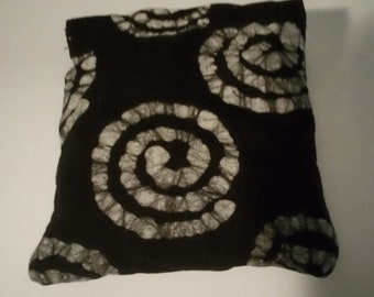 """CUSTOM MADE  Rest Reiki and Relaxation Small Square Dream Pillow in """"Druid Black"""""""
