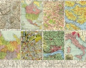 Collage Sheet - Maps  -  ATC, Background, Collage, Altered Books and Art