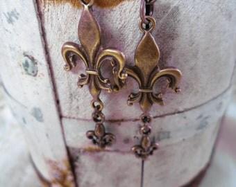Fleur- De- Lis Earrings