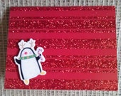 Dancing Penguin Holiday Christmas Card