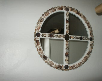 Seashell  Windowpane Mirror
