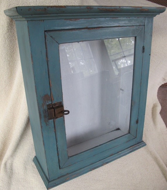 Items similar to antique medicine cabinet glass door for Diy glass cabinet doors