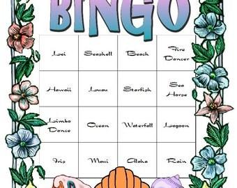 Hawaiian Luau Themed Bingo Set