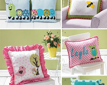 Simplicity 1929 Appliqued Pillow Sewing Pattern