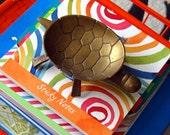 Vintage Brass Turtle Dish