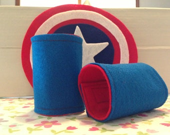 Custom Superhero Power Cuffs, Reversible, Choose any Style or Color Combination Super Hero Wrist Bands