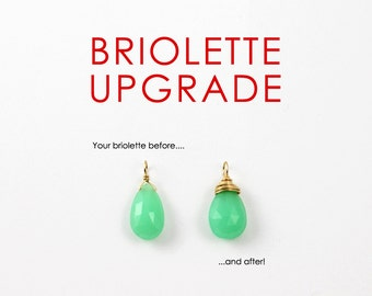 U P G R A D E to a Full Wire Wrapped Gemstone Briolette, Add to Gemstones Purchased at ACharmedImpression Today, See Details Inside